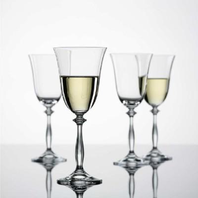 Bohemia Crystal White Wine Glass set Glass Set(Glass, 250 ml, Clear, Pack of 6) at flipkart