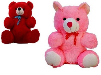464f4e334e2 SONIA COLLECTIONS 2 Feet Combo (Red   Pink) Of Cute Lovable Stuffed Spongy  Huggable