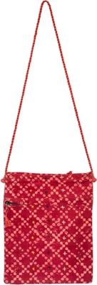 Lambani Embroidery Red Sling Bag- Dora Kande Tuneru Sling Bag(Pink, 5 inch)