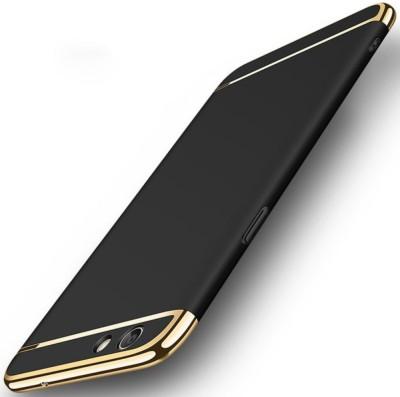 GoldKart Back Cover for OPPO F1s(Black, Plastic)