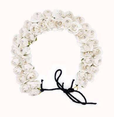 Majik Unique Gajra Hair Accessories | Hair Accessories For Girls Wedding Gajra (Veni) For Easy Hair Styling Bun Bun(White)