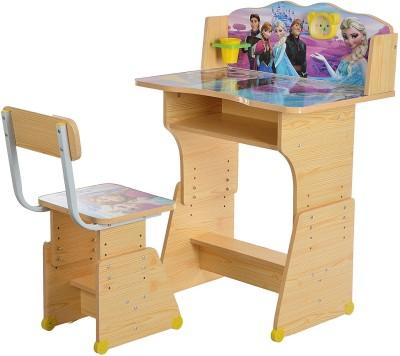 Iris Wooden Finish Frozen Kids Solid Wood Desk Chair(Finish Color - Multicolour)
