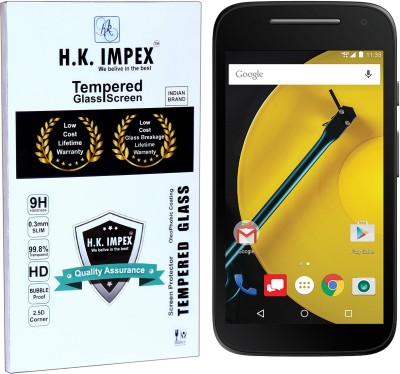 H.K.Impex Tempered Glass Guard for Motorola Moto E2,motorola moto e2 tempered glass in mobile screen guard (full display cover)(Pack of 1)