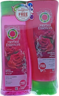Herbal Essences Ignite My Color Vibrant Color Shampoo + Conditioner, With Coconut Essences - 760ml (400ml+360ml)(760 ml)