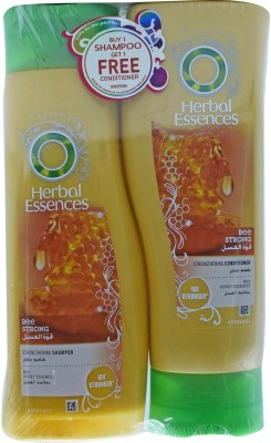 Herbal Essences Bee Strong Strengthening Shampoo + Conditioner, With Honey Essences - 760ml (400ml+360ml)(760 ml)