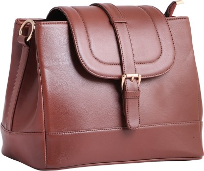 df19743e0c 77% OFF on Women Marks Women Brown PU Sling Bag on Flipkart