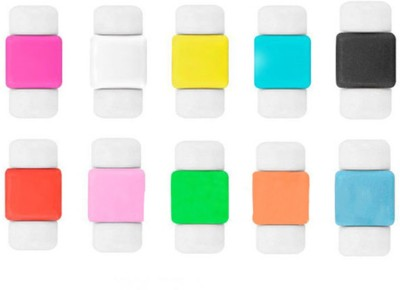 Aryshaa 10pcs Protector Saver Cover for iPhone/iPad USB Charger Cable Cord (Mullti Color) Cable Drop Clip(Mullti Color)