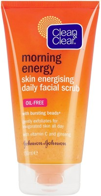 Clean & Clear Morning Energy Skin Energising Daily Facial Scrub Face Wash(150 ml)