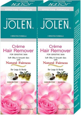 Jolen Hair remover (Twin Pack) Rose Cream (240 ml) Cream(240 g) Flipkart