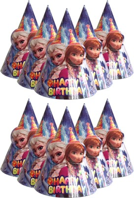 PARTY PROPZ Frozen Cap (Set Of 10) For Frozen Party Supplies(Multicolor, Pack of 10)
