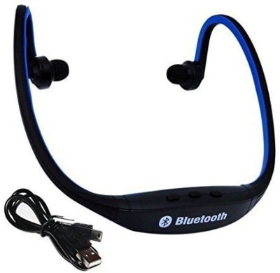 13-HI-13 BS19C Bluetooth Wireless Bluetooth Headset With Mic Wireless bluetooth Headphone (Blue, Black, In the Ear) Bluetooth Headset with Mic(Blue, In the Ear)