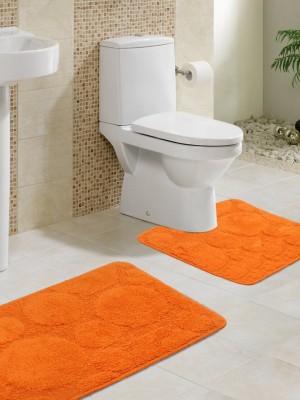 Lushomes Cotton Bathroom Mat(Red, Medium) at flipkart