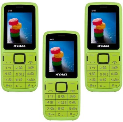 Mymax M40 Combo of Three Mobiles(Green&Black$$Green&Black$$Green&Black)
