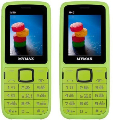 Mymax M40 Combo of Two Mobiles(Green&Black$$Green&Black)