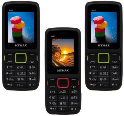 Mymax M40 Combo of Three Mobiles(Black&Green$$Black&Red$$Black&Green)