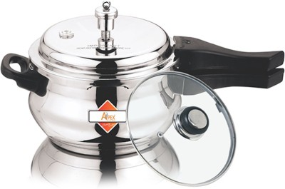 Apex Stainless Steel Popular Cooker 2 Ltr 5.5 L Pressure Cooker with Induction Bottom(Stainless Steel)