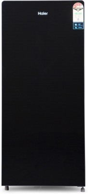 Haier 195 L Direct Cool Single Door 4 Star Refrigerator(Black Glass, HRD-1955CKG-E)