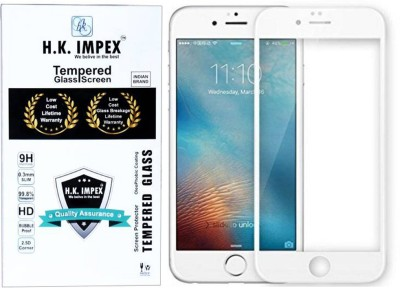 H.K.Impex Edge To Edge Tempered Glass for Apple Iphone 6 Plus (5D Tempered glass).(Pack of 1)
