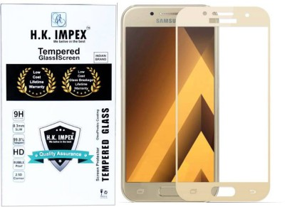 H.K.Impex Edge To Edge Tempered Glass for Samsung Galaxy A5 2017 (Gold Edition).(Pack of 1)