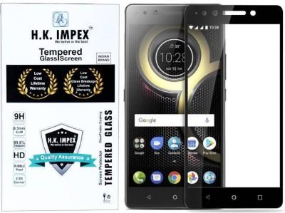 H.K.Impex Edge To Edge Tempered Glass for Lenovo K8 Plus(Pack of 1)