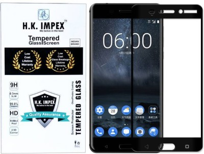 88% OFF on H.K.Impex Edge To Edge Tempered Glass for Nokia 6(Pack