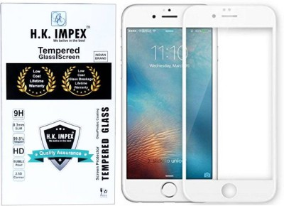 H.K.Impex Edge To Edge Tempered Glass for Apple iPhone 7 Plus, Apple Iphone 8 plus (5D Tempered glass).(Pack of 1)