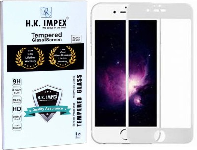 H.K.Impex Edge To Edge Tempered Glass for Apple Iphone 6 (5D Tempered glass )(full body cover)(Pack of 1)