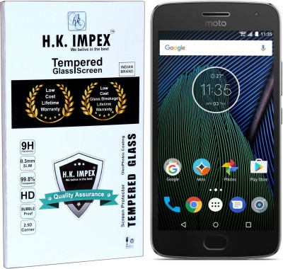 H.K.Impex Tempered Glass Guard for Motorola Moto G5 PLUS,motorola moto g5 pus tempered glass in mobile screen guard(Pack of 1)