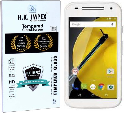 H.K.Impex Tempered Glass Guard for Motorola Moto E,motorola moto e tempered glass in mobile screen guard (full display cover glass).(Pack of 1)