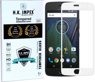 H.K.Impex Tempered Glass Guard for Motorola Moto G4 Plus,motorola moto g4 pus tempered glass in mobile screen guard(Pack of 1)