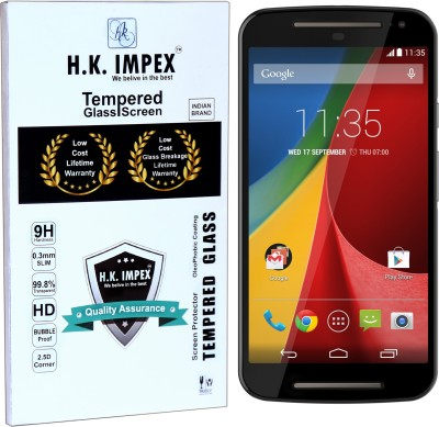 H.K.Impex Tempered Glass Guard for Motorola Moto G2/Moto G 2nd GEN,motorola moto g2 tempered glass in mobile screen guard (full display cover glass)