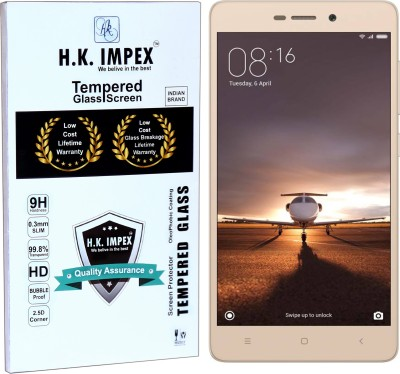 H.K.Impex Tempered Glass Guard for MI REDMI 3S/3SPRIME,mi redmi 3s,3s prime tempered glass in mobile screen guard (full display cover glass).(Pack of 1)