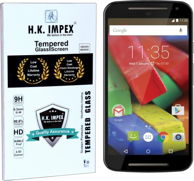 H.K.Impex Tempered Glass Guard for Motorola Moto G2,:motorola moto g2 tempered glass in mobile screen guard (full display cover glass).(Pack of 1)