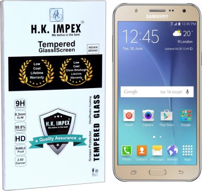 H.K.Impex Tempered Glass Guard for Samsung Galaxy J7,samsung galaxy j7 tempered glass in mobile screen guard (full body cover glass)(Pack of 1)