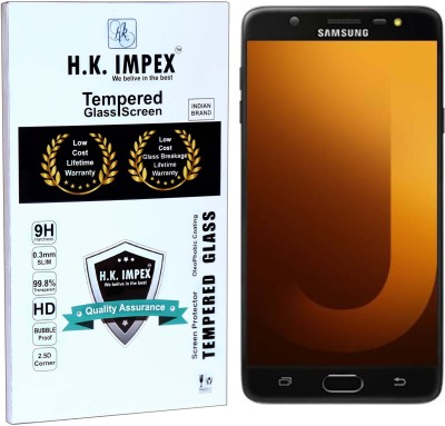 H.K.Impex Tempered Glass Guard for Samsung Galaxy J7 Max(Pack of 1)
