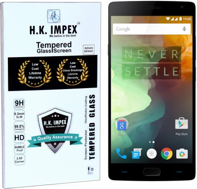 H.K.Impex Tempered Glass Guard for OnePlus 2,oneplus 2 tempered glass in mobile screen guard(full body cover glass)(Pack of 1)