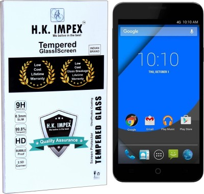H.K.Impex Tempered Glass Guard for YU Yureka , yureka plus tempered glass in mobile screen guard (full body cover glass).(Pack of 1)