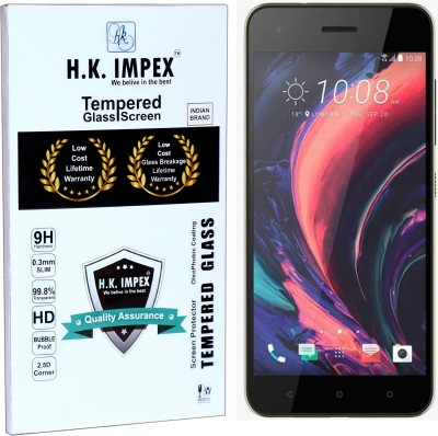 H.K.Impex Tempered Glass Guard for HTC Desire 10 pro,htc desire 10pro tempered glass in mobile screen guard (full display cover glass).(Pack of 1)