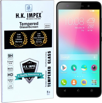 H.K.Impex Tempered Glass Guard for Honor 4X,huawei honor 4x tempered glass in mobile screen guard (full display cover glass)(Pack of 1)