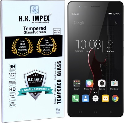 H.K.Impex Tempered Glass Guard for Lenovo Vibe K5 Note,lenovo vibe k5 note tempered glass in mobile screen guard (full display cover glass)(Pack of 1)