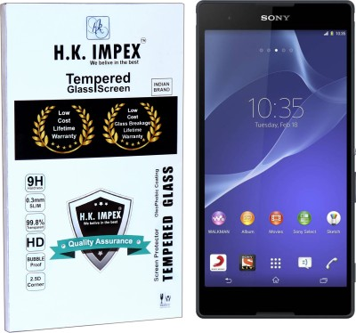 H.K.Impex Tempered Glass Guard for Sony Xperia T2 Ultra Dual,sony xperia t2 ultra tempered glass in mobile screen guard