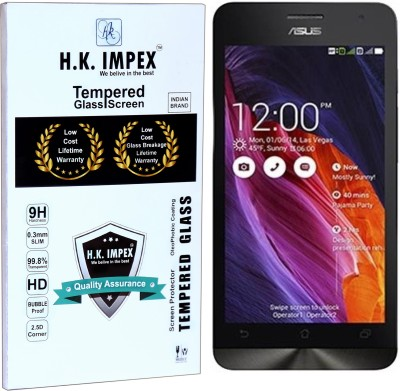 H.K.Impex Tempered Glass Guard for Asus Zenfone 5 A501CG (5 )(Pack of 1)