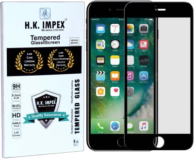 H.K.Impex Tempered Glass Guard for Apple iphone 6 Plus,apple iphone 6 plus tempered glass in mobile screen guard(full body cover glass)(Pack of 1)