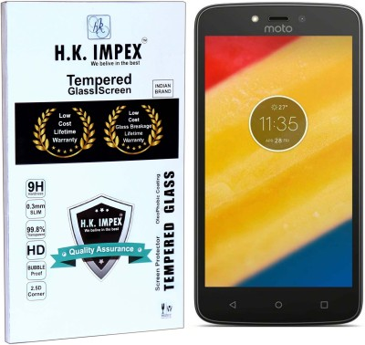 H.K.Impex Tempered Glass Guard for motorola Moto C( 5.0 inch)(Pack of 1)