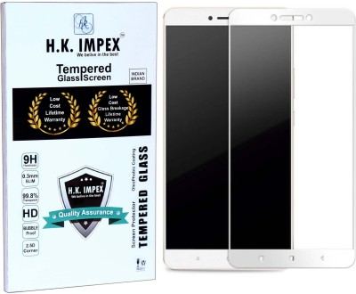 H.K.Impex Tempered Glass Guard for MI Max,xiomi mi max tempered glass in mobile screen guard(full body cover glass)(Pack of 1)