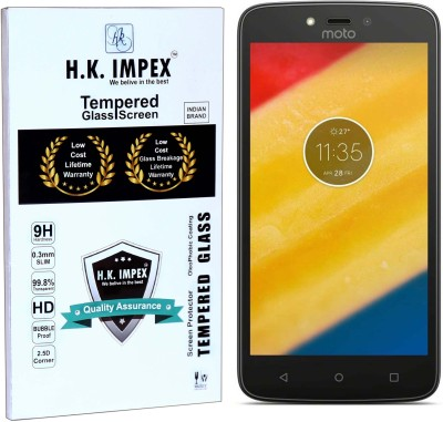 H.K.Impex Tempered Glass Guard for Motorola Moto C Plus(Pack of 1)
