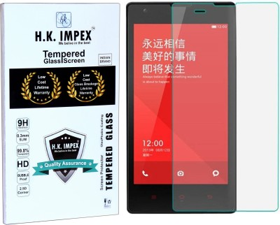 H.K.Impex Tempered Glass Guard for MI REDMI 1S,mi redmi 1s tempered glass in mobile screen guard (full display cover).(Pack of 1)