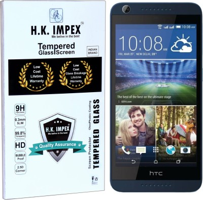 H.K.Impex Tempered Glass Guard for HTC 626G Plus,htc desire 626g plus tempered glass in mobile screen guard edge to edge cover(Pack of 1)