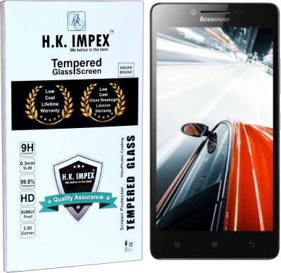 H.K.Impex Tempered Glass Guard for Lenovo A6000,lenovo a6000 tempered glass in mobile screen guard (full display cover)(Pack of 1)