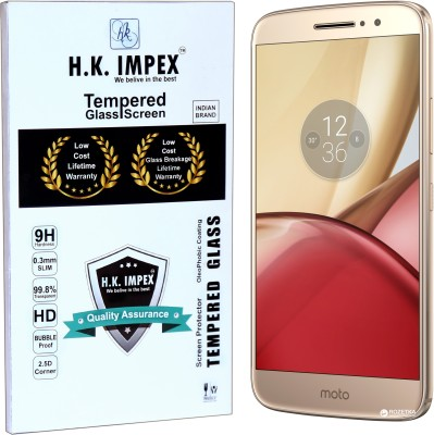 H.K.Impex Tempered Glass Guard for Motorola Moto M,motorola moto m tempered glass in mobile screen guard (full body cover glass)(Pack of 1)